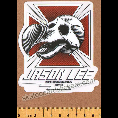Blind Skateboards Heritage Skull Series Skateboard Sticker - Jason Lee