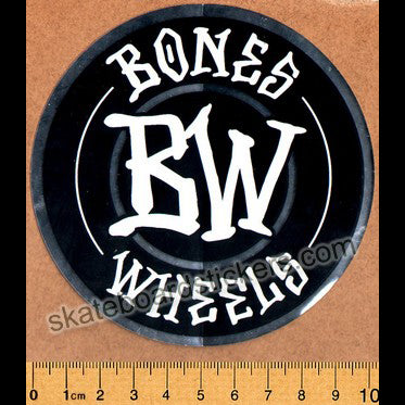 Bones Wheels Skateboard Sticker - Branded medium
