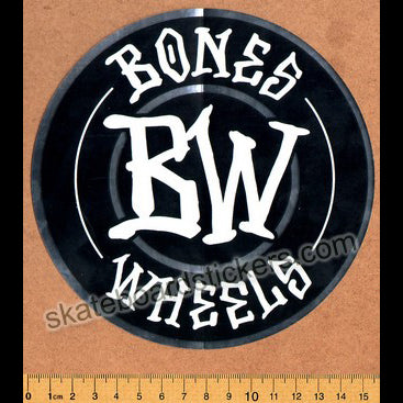 Bones Wheels Skateboard Sticker - Branded large