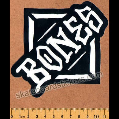 Bones Wheels Skateboard Sticker - Diamond medium