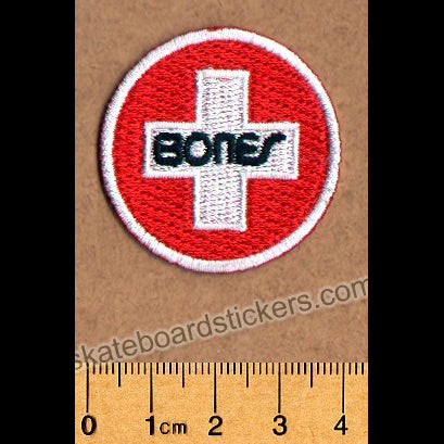 Bones Swiss Circle Skateboard Patch