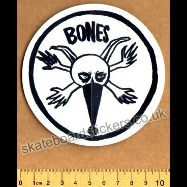Bones Wheels Pope Rat  Skateboard Sticker - SkateboardStickers.com