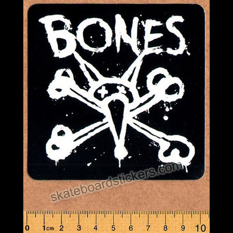 Bones Wheels Skateboard Sticker - Vato Op Square - SkateboardStickers.com