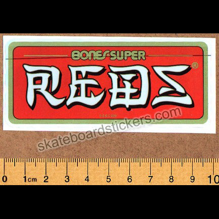 Bones Super Reds Bearings Skateboard Sticker