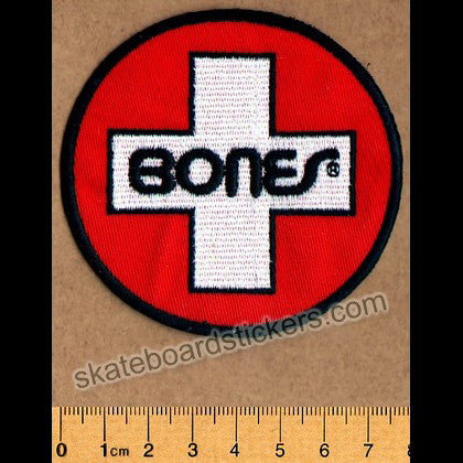Bones Swiss Circle Skateboard Patch - SkateboardStickers.com