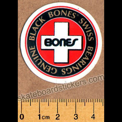 Powell Peralta / Bones Swiss Bearings Old School Skateboard Sticker