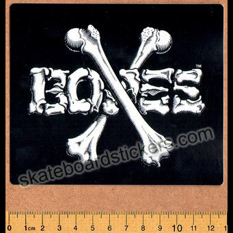 Bones Crossbones Skateboard Sticker - Black/White Big