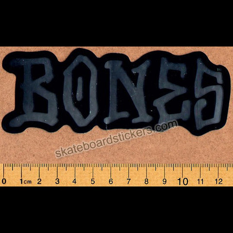Bones Skateboard Sticker - Black/Silver Large