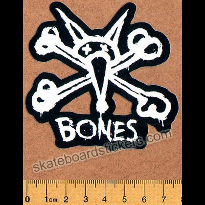 Bones Wheels Skateboard Sticker - Vato Stacked Small