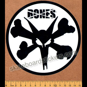 Bones Wheels Skateboard Sticker - Vato Stacked Lrg