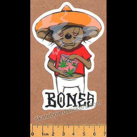Bones Wheels - Weedy Skateboard Sticker