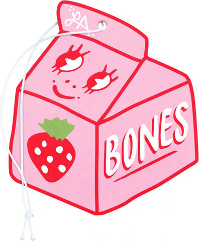 Bones Wheels - Spilt Milk Strawberry Air Freshener