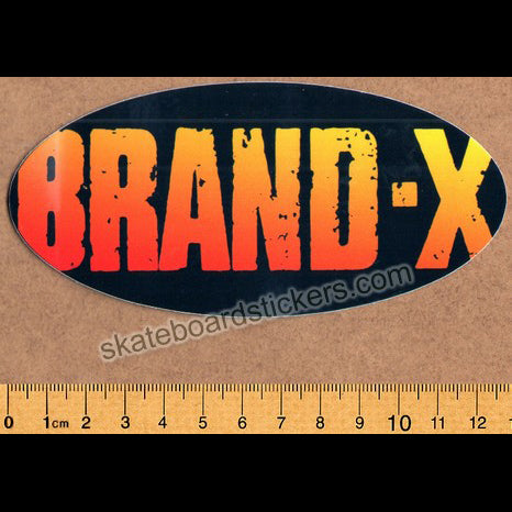 Brand-X Skateboard Sticker - Logo