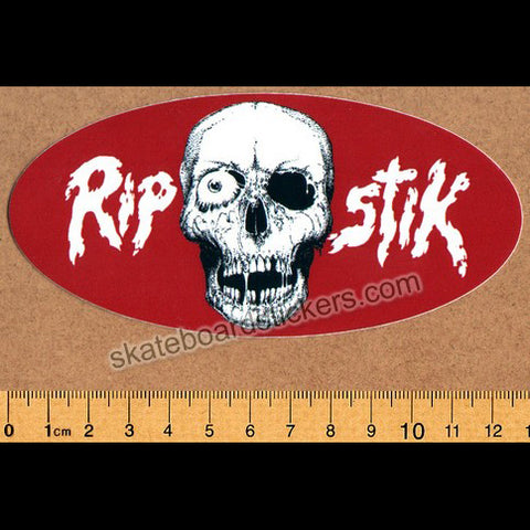 Brand-X Skateboard Sticker - Ripstik Red