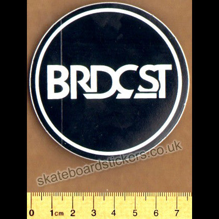 Broadcast Skateboard Sticker - SkateboardStickers.com