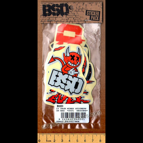 BSD 2021 Assorted BMX Sticker Pack - 10 Stickers