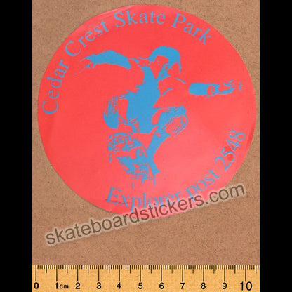 Cedar Crest Old School Skateboard Sticker