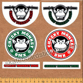Cheeky Monkey BMX Sticker Pack - 6 Stickers