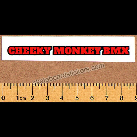Cheeky Monkey BMX Sticker