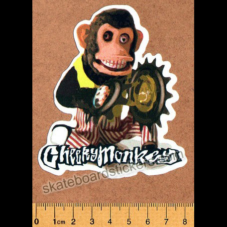 Cheeky Monkey BMX Sticker - Sprocket Cymbals