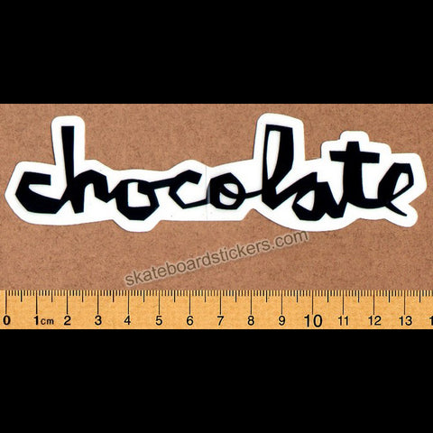 Chocolate Chunk Logo Skateboard Sticker - Black - SkateboardStickers.com