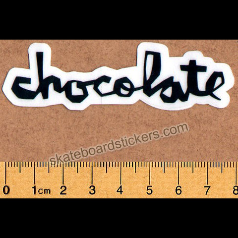 Chocolate Chunk Logo Skateboard Sticker - Small Black
