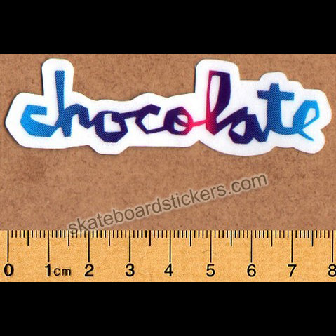 Chocolate Chunk Logo Skateboard Sticker - Small Multicoloured