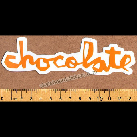 Chocolate Chunk Logo Skateboard Sticker - Orange