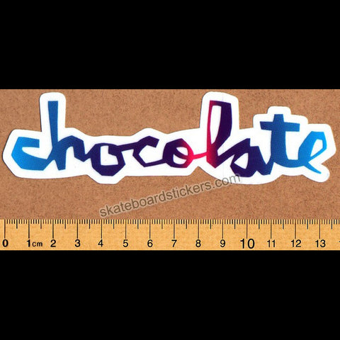 Chocolate Chunk Logo Skateboard Sticker - Multicoloured
