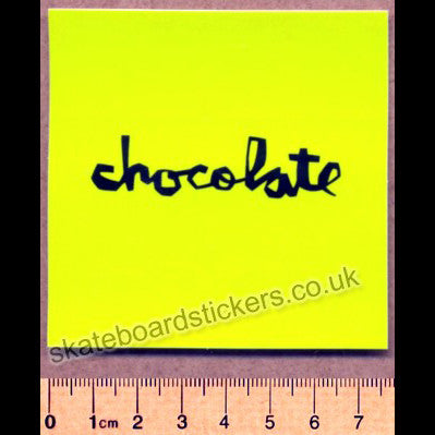 Chocolate Skateboard Sticker - SkateboardStickers.com