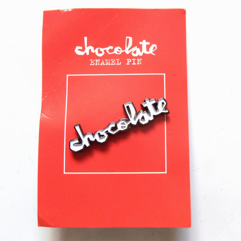 Chocolate Skateboards Push Back Pin - White Logo