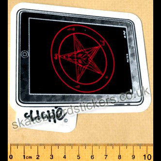 Cliche Pentagram Skateboard Sticker - SkateboardStickers.com