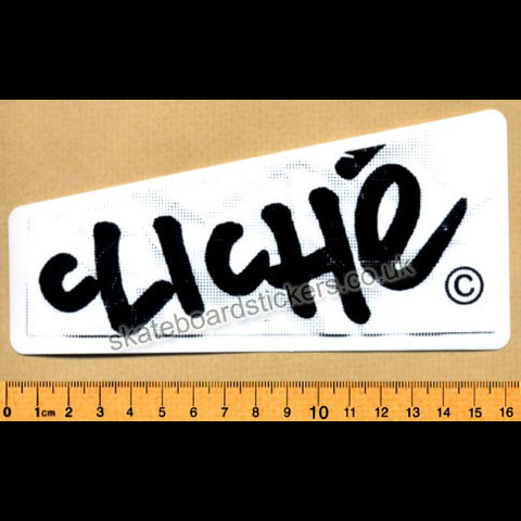 Cliche Skateboard Sticker - SkateboardStickers.com