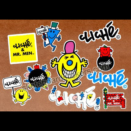 Cliche & Mr Men Skate Sticker Pack - SkateboardStickers.com