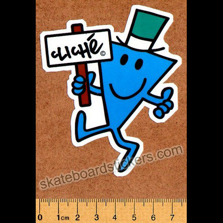Cliche & Mr Men Skateboard Sticker - SkateboardStickers.com