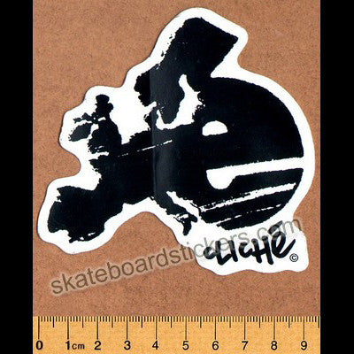Cliche Skateboard Sticker