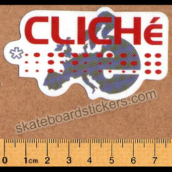 Cliche old Skateboard Sticker