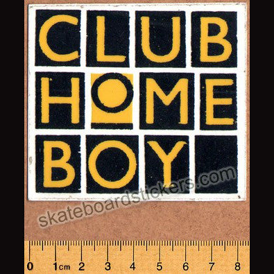 Club Homeboy Old School Skateboard Sticker - SkateboardStickers.com