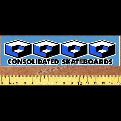 Consolidated Skateboard Sticker - SkateboardStickers.com