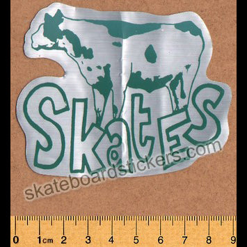 Cow Skates Skateboard Sticker