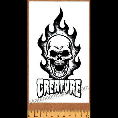 Creature Skateboard Sticker - Bonehead White - SkateboardStickers.com