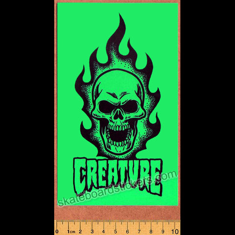 Creature Skateboard Sticker - Green