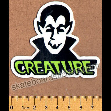 Creature Skateboard Sticker - Vamp - SkateboardStickers.com