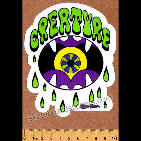 Creature Shakra Skateboard Sticker - SkateboardStickers.com