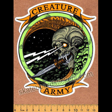 Creature Army Skateboard Sticker - SkateboardStickers.com