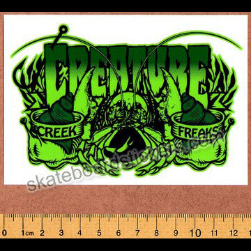 Creature Creek Freak Skateboard Sticker