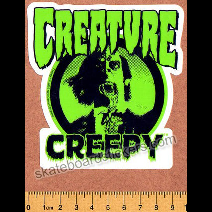 Creature Skateboard Sticker - Creepy