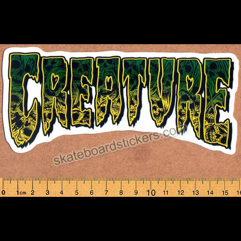 Creature Skateboard Sticker - Catacomb Green