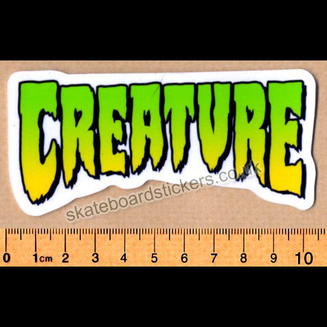 Creature Logo Skateboard Sticker