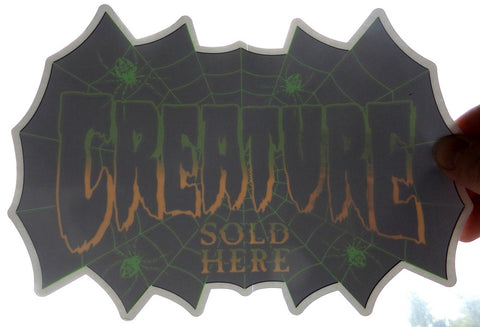 Creature Authorized Dealer Window Skateboard Sticker